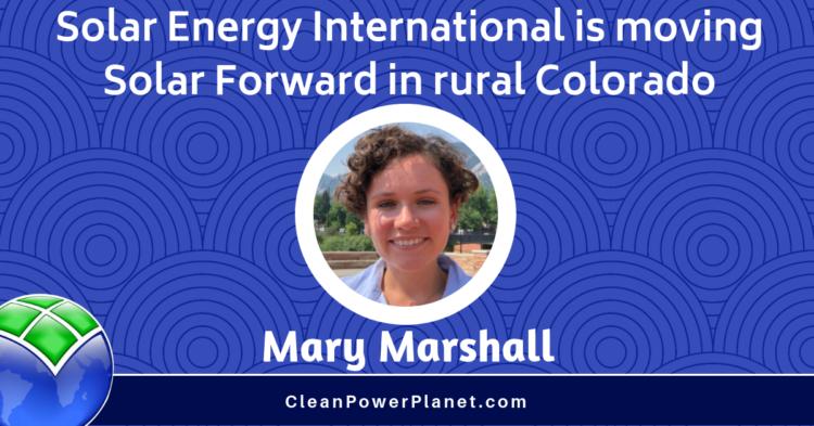 Mary Marshall Solar Energy International